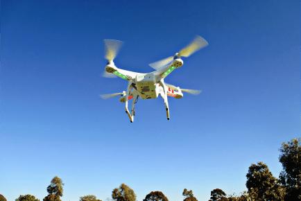 uso drones para fazer inventário