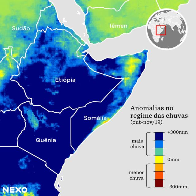 Chuvas no leste da africa