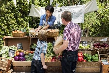 Comercialização de produtos orgânicos.