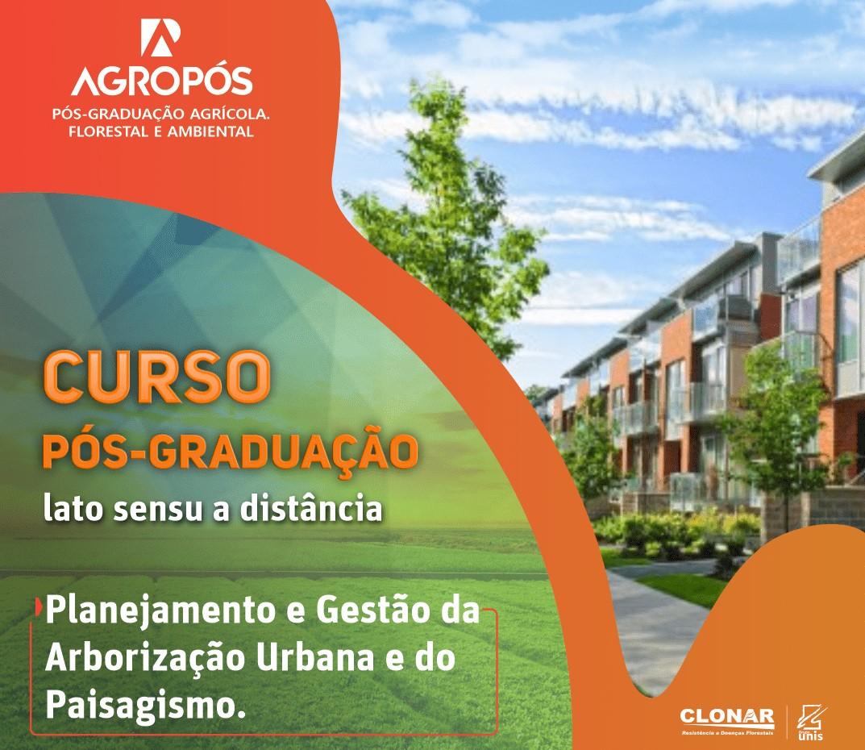 pós-graduação em arborização urbana e paisagismo