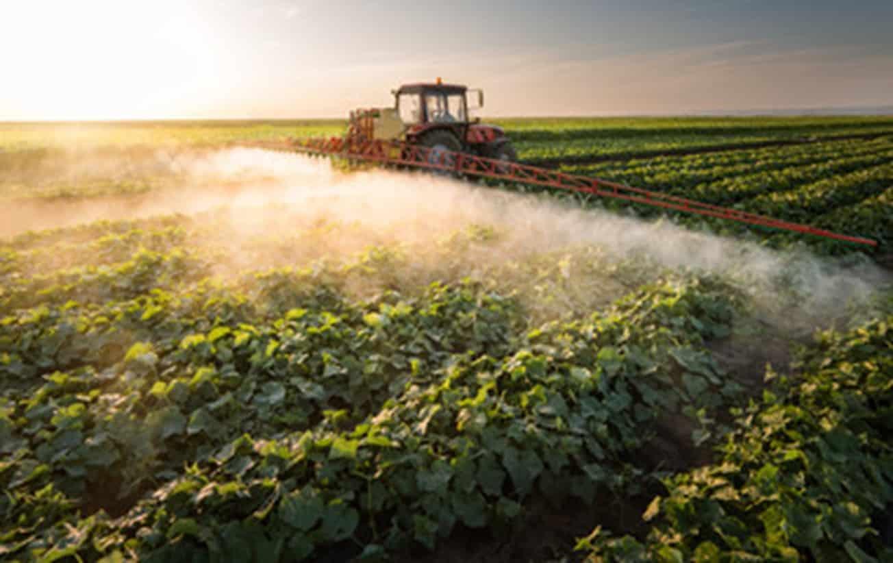 aplicação de herbicida