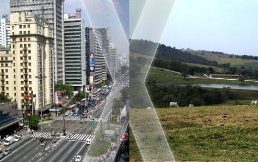 Influência da Urbanização e meio rural no clima