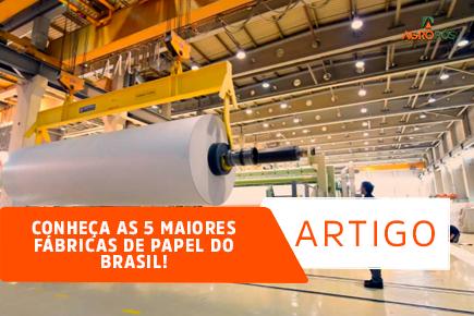 Conheça as 5 maiores Fábricas de Papel do Brasil!